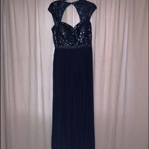 Betsy and Adams Formal Blie Dress